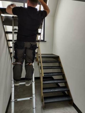 open trap leer maken achterkant