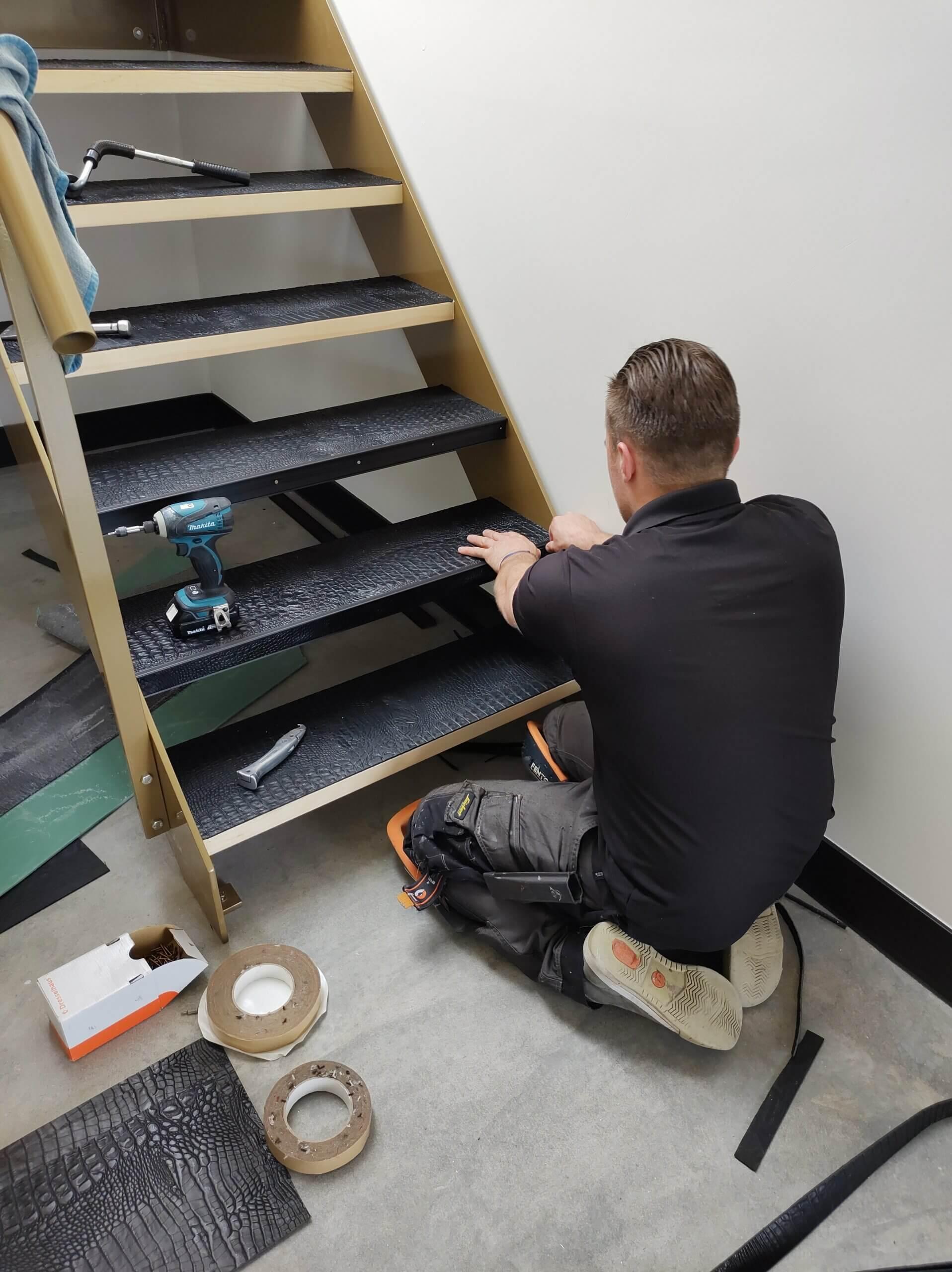 open trap leer maken voorkant